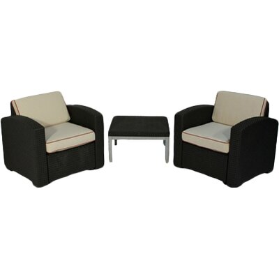 Loggins 3 Piece 2 Person Seating Group
