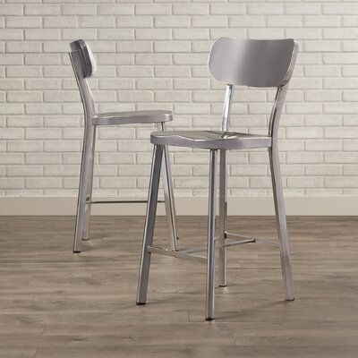 Rizzuto Counter Height Stainless Steel Side Chair
