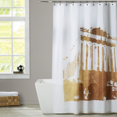 Ikonolexi Acropolis 1 Shower Curtain Color: Gold