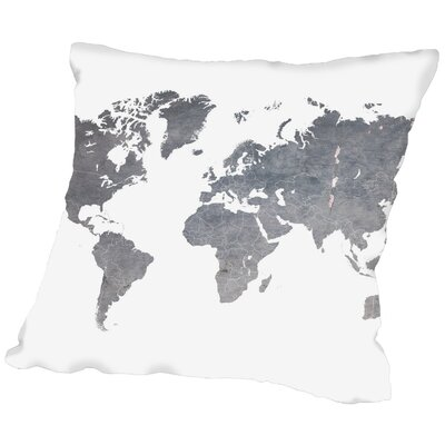 Ikonolexi World Map1 Throw Pillow Size: 16 H x 16 W x 2 D