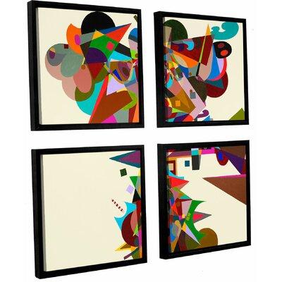 Atherton 4 Piece Framed Graphic Art on Canvas Set