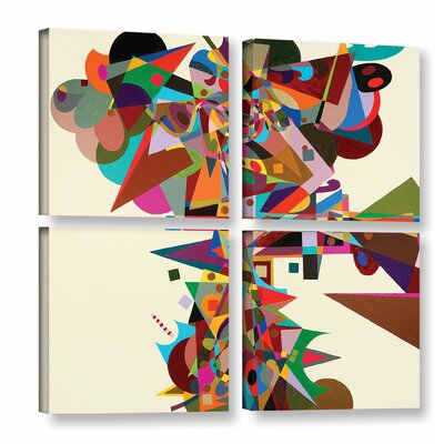 Atherton 4 Piece Graphic Art on Wrapped Canvas Set