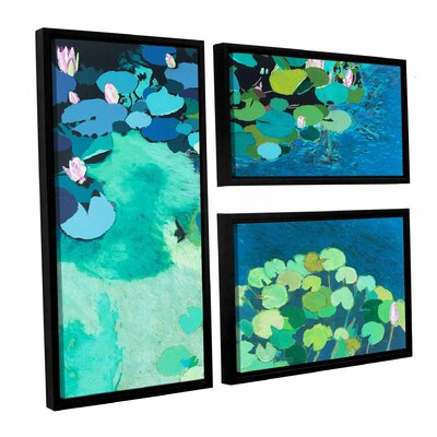 Moonlit Shadows 3 Piece Framed Painting Print on Canvas Set Size: 24