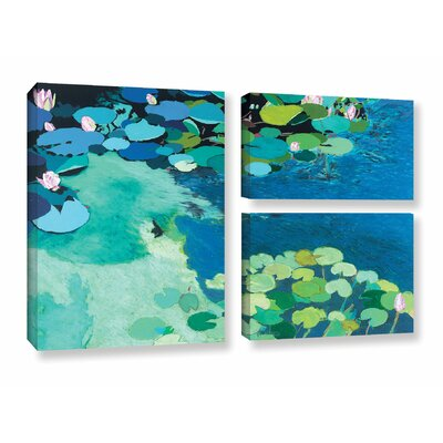 Moonlit Shadows 3 Piece Painting Print on Wrapped Canvas Set