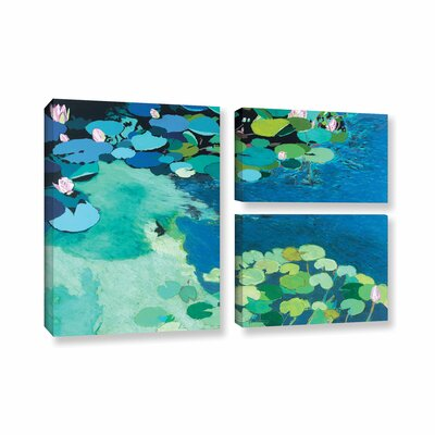 Moonlit Shadows 3 Piece Painting Print on Wrapped Canvas Set Size: 24