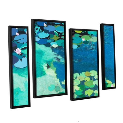 Moonlit Shadows 4 Piece Framed Painting Print on Canvas Set Size: 24