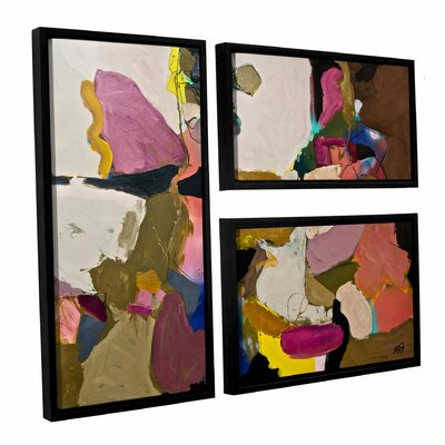 Stage Left 3 Piece Framed Painting Print on Canvas Set