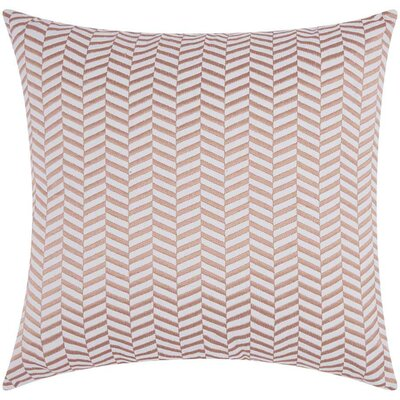 Cardington Chevron Cotton Throw Pillow Color: Rose Gold