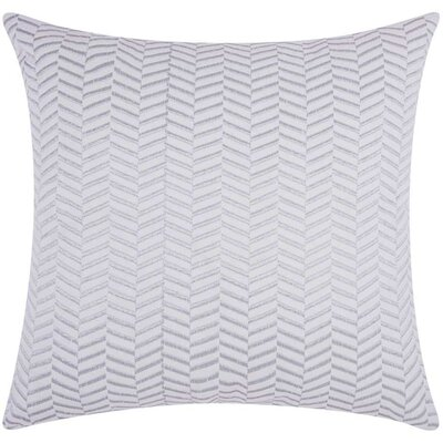 Cardington Chevron Cotton Throw Pillow Color: Silver