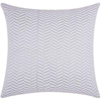 Cardington Chevron Cotton Throw Pillow Color: Silver