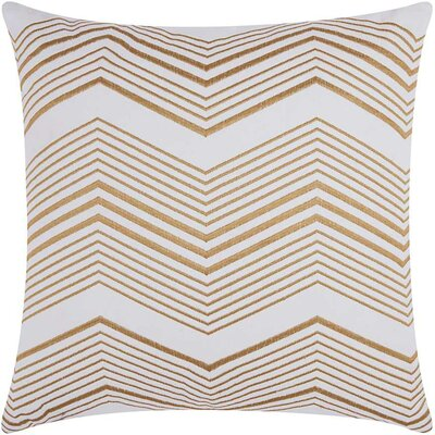 Cardington Thin Chevron Stripped Cotton Throw Pillow Color: Gold