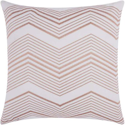 Cardington Thin Chevron Stripped Cotton Throw Pillow Color: Rose Gold