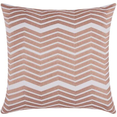 Cardington Thick Chevron Stripped Cotton Throw Pillow Color: Rose Gold