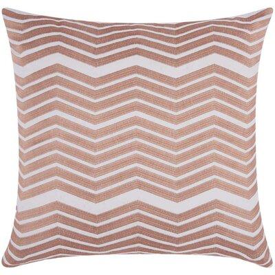 Cardington Thick Chevron Stripped Cotton Throw Pillow Color: Rose Gold