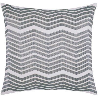 Cardington Thick Chevron Stripped Cotton Throw Pillow Color: Silver