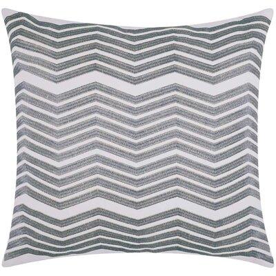 Cardington Thick Chevron Stripped Cotton Throw Pillow Color: Silver