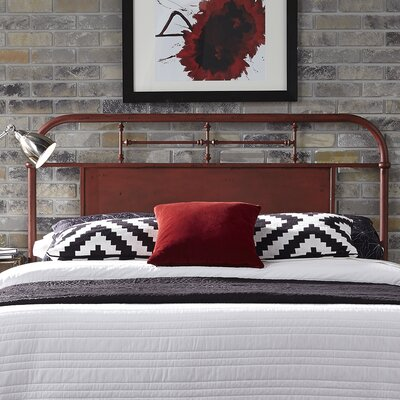 Chambers Open-Frame Headboard Size: Twin, Color: Red