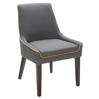 Cedarville Side Chair Upholstery: Black/Gold