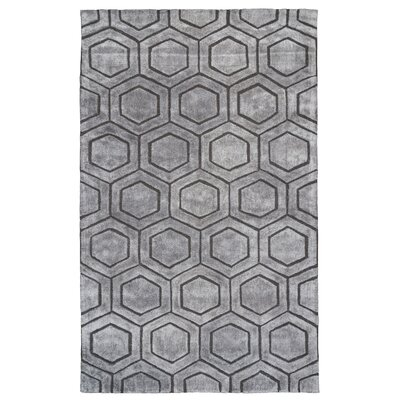 Ceto Hand-Tufted Gray Area Rug Rug Size: 5 x 8