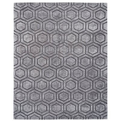 Ceto Hand-Tufted Gray Area Rug Rug Size: 8 x 10