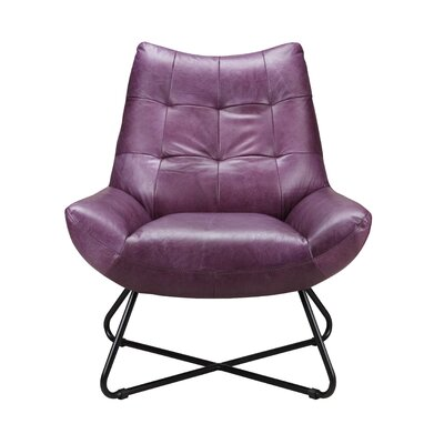 Chaplin Lounge Chair Upholstery: Purple