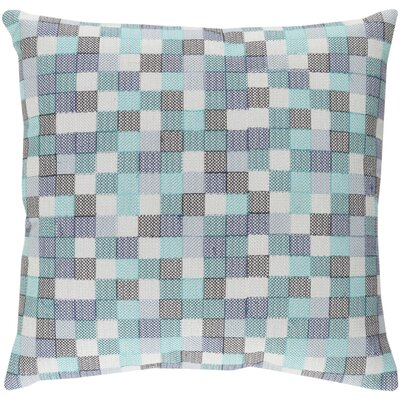 Cevenola Cotton Throw Pillow Size: 22 H x 22 W x 4 D, Color: Blue/Gray