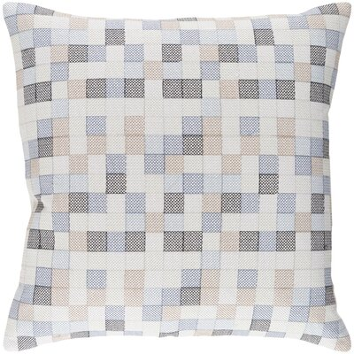 Cevenola Cotton Throw Pillow Size: 20 H x 20 W x 4 D, Color: Denim/Gray