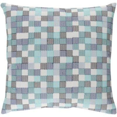 Cevenola Cotton Throw Pillow Color: Blue/Gray, Size: 22 H x 22 W x 4 D