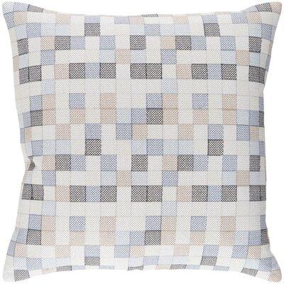 Cevenola Cotton Throw Pillow Size: 20 H x 20 W x 4 D, Color: Denim/Gray