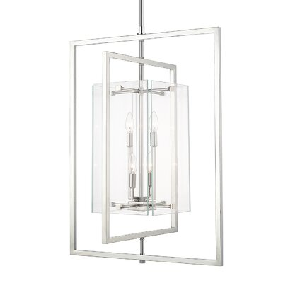 Chariklo 4-Light Foyer Pendant Finish: Polished Nickel
