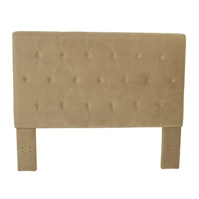 Chrystie Upholstered Panel Headboard Color: Tan
