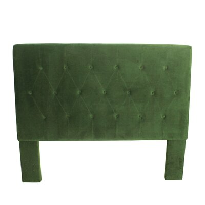 Chrystie Upholstered Panel Headboard Color: Forest Green