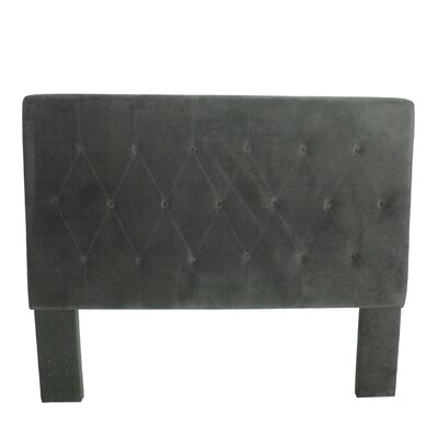 Chrystie Upholstered Panel Headboard Color: Gun Metal Gray