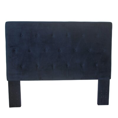 Chrystie Upholstered Panel Headboard Color: Navy Ink