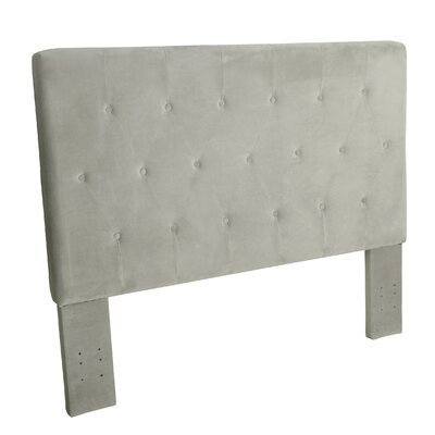 Chrystie Upholstered Panel Headboard Color: Dove Gray