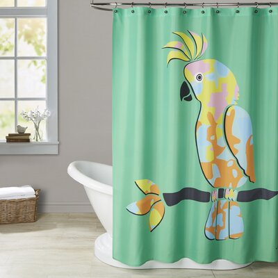 Ashlee Rae Crested Cockatoo Shower Curtain