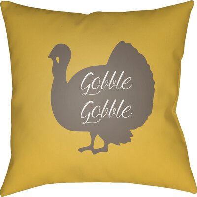 Maskell Indoor/Outdoor Throw Pillow Size: 18 H x 18 W x 4 D, Color: Yellow/Brown/White