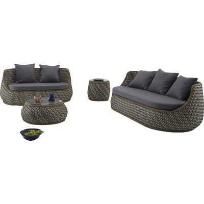 Agora Naxos Outdoor 5 Piece Deep Seating Group with Cushion