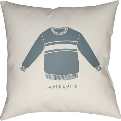 Mashburn Indoor/Outdoor Throw Pillow Color: White/Blue, Size: 20 H x 20 W x 4 D