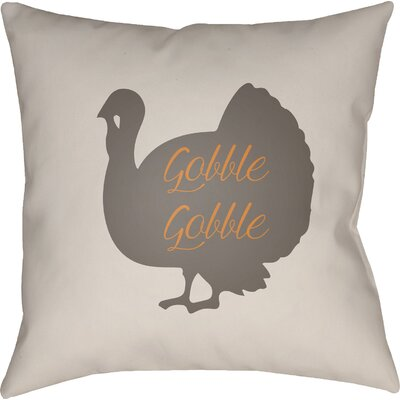 Maskell Indoor/Outdoor Throw Pillow Size: 18 H x 18 W x 4 D, Color: White/Brown/Orange