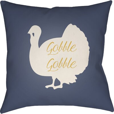 Maskell Indoor/Outdoor Throw Pillow Size: 18 H x 18 W x 4 D, Color: Blue/White/Yellow