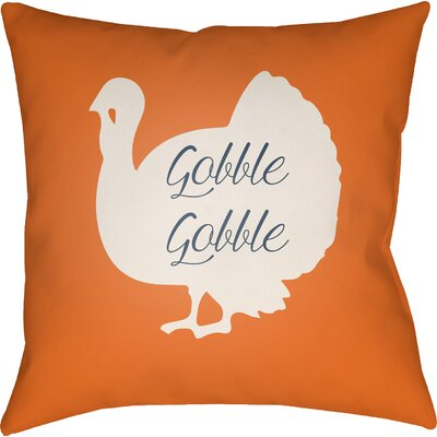 Maskell Indoor/Outdoor Throw Pillow Size: 18 H x 18 W x 4 D, Color: Orange/White/Black