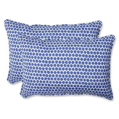 Eris Indoor/Outdoor Lumbar Pillow Fabric: Navy, Size: 11.5 x 18.5