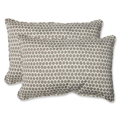 Eris Indoor/Outdoor Lumbar Pillow Fabric: Sterling, Size: 11.5 x 18.5