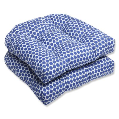 Eris Wicker Outdoor Seat Cushion Fabric: Navy