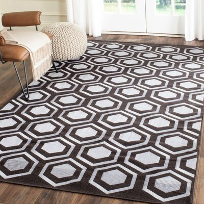 Barrier Hand-Woven Charcoal Area Rug Rug Size: Rectangle 4 x 6