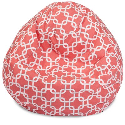 Danko Medium Bean Bag Chair Upholstery: Coral