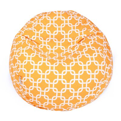 Danko Medium Bean Bag Chair Upholstery: Yellow
