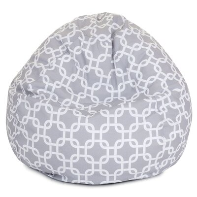Banas Medium Bean Bag Chair Upholstery: Gray