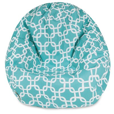 Banas Medium Bean Bag Chair Upholstery: Teal
